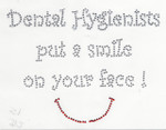 """Rhinestud Applique - """"Dental Hygienists"""""""