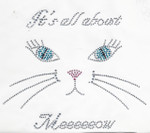 Rhinestud Applique - Its all about Meeeeeeow!