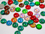 Hot Fix Stud - Cabochon Epoxy Circle 10mm *Colors* 50 piece pack apx