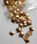 Hot Fix Stud - Square Faceted 5mm  *Colors* 144 piece pack apx