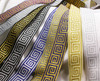 Greek Key Woven Jacquard Ribbon tjr1018