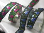 "Jacquard Ribbon 1"" Graduating Color Roses *Colors*Priced Per Yard"