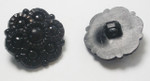 "Button 1"" (25mm) Black Flower Shank  - Per Piece"