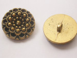 "Button 1"" (25mm) Aged Gold Faceted - Per Piece"