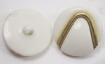 "Button 1"" (25mm)  Ivory with Gold Accent  - Per Piece"