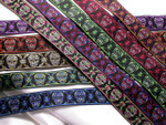 "Jacquard Ribbon 1"" (25mm) Sugar Skulls *Colors* Priced per Yard"