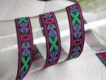"Jacquard Ribbon 3/4"" (19MM) Multi Aztec - Priced Per yard"