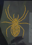 Gold Spider Rhinestud Applique - 4 sizes