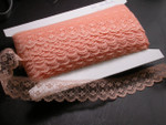 "Flat Lace 1 1/4"" (31.75mm) Peach  50 Yards"