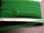 "5/8"" (15.87mm) Insertion Beading Lace Emerald Green 100 Yard Bolt"