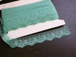 "Raschel Beading Lace 1 1/2"" (38mm) Jade 25 Yards SOFT"