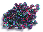 Ribbon Swirl Rose no leaf Multi Green Wine Purple 50 pack
