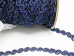 "Swirl Braid  1/2"" (12.5mm) Navy Blue Priced Per Yard"