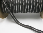 "Braid 1/2"" (12.5mm) Graphite Soft Black & Silver Priced Per Yard"