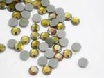 Swarovski Crystal GOLDK AB SS16 4mm apx (Hotfix) Flatback Rhinestones 144 pcs