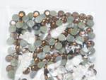 Swarovski Crystal SMOKED TOPAZ SS16 4mm apx (Hotfix) Flatback Rhinestones 144 pcs
