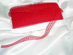 "11/16"" Insertion Beading Lace Red 50 Yard Bolt"