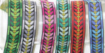 "Jacquard Ribbon 1"" (25mm) 100% Poly - Sycamore Pattern *COLORS* 18 meter ROLL."
