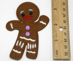 "Iron On Patch Applique - Gingerbread Man Mongo 3 5/8"" x 2 1/2"""