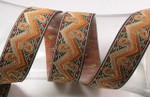 """Jacquard Ribbon 1 1/4"""" (31.75mm) Zig Zag Paisley Per Yard"""