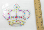 "Rhinestud Applique - Crown 4 3/8"" x 3 5/8"" (111mm x 92mm)"
