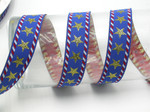 "Stars & Stripes Jacquard Ribbon 1"" (25mm) Priced Per yard"