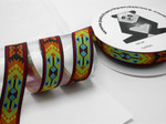 "Aztec Jacquard Ribbon 1 1/2"" (38mm) Bright Pattern priced Per Yard"