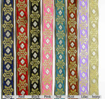 "Jacquard Ribbon 1"" (25mm) Crown Royale *Colors* Priced Per Yard"