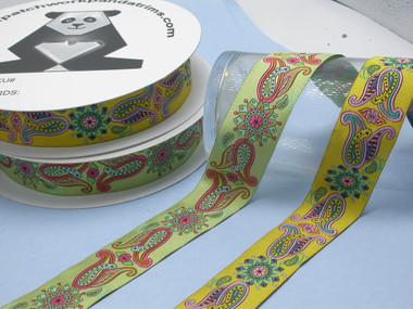 Paisley Mandala Jacquard Ribbon