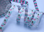 "Jacquard Ribbon - Queen Bitch 3/4"" (20mm) Per Yard"
