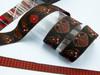 Celtic dragon jacquard ribbon in tan
