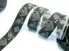 Celtic dragon jacquard ribbon in gray