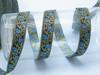 Blue ivy vine jacquard ribbon
