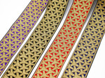 "2"" Wishbone Jacquard Border Woven Ribbon (50mm"