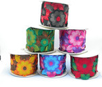 """Iron On Border Giant Flowers 102mm 4 wide"""" Priced Per Yard  Iron On Be Bold!"""