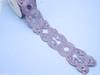 "Embroidered Saree Border Sunburst Scrolls 76mm 3"" wide Priced Per Yard  Iron On"