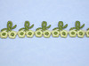 "Iron On Border Flower Buds 5/8"" (16mm)  wide Priced Per Yard  Iron On"