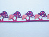 "Iron On Border Preppy Toadstools 35mm 1 3/8"" wide Priced Per Yard Iron On"