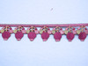 """Iron On Border Preppy Budding Flowers 35mm 1 3/8"""" wide Priced Per Yard Iron On"""