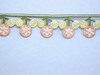 """Iron On Border Preppy Flowers 35mm 1 3/8"""" wide Priced Per Yard  Iron On"""