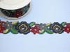 "Embroidered Saree Border Primrose Flowers 50mm 2"" wide Priced Per Yard USA STOCK Iron On"