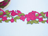 "Embroidered Saree Border Flower Butterfly 96mm 3 1/2 wide"" Priced Per Meter  Iron On"