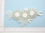 Off White Gold  Bridal Applique - Floral Embroidered iron On patch