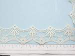 "Venise Lace 2 1/4"" Off White Scalloped 12 yards"