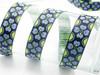 "Jacquard Ribbon 1"" (25mm) Primrose 9 meters  Blue & Green"
