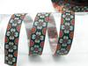"Jacquard Ribbon 1"" (25mm) Primrose 9 meters Gray & Orange"