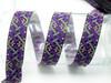 """Jacquard Ribbon 1"""" (25mm) Fortius 9 meters Purple"""