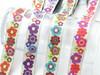 "Jacquard Ribbon 1"" (25mm) Floral Tutti Frutti 9 meters"