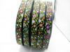 "Jacquard Ribbon 1"" (25mm) Night Blooms 9 meters"