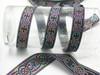 """Celtic Jacquard Ribbon Long Link Design Multi Metallic 7/8"""""""